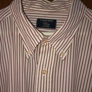 Gitman Bros. Men's White & Red Striped Shirt